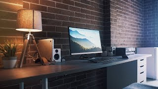 Industrial Desk Setup - Modern and Minimal
