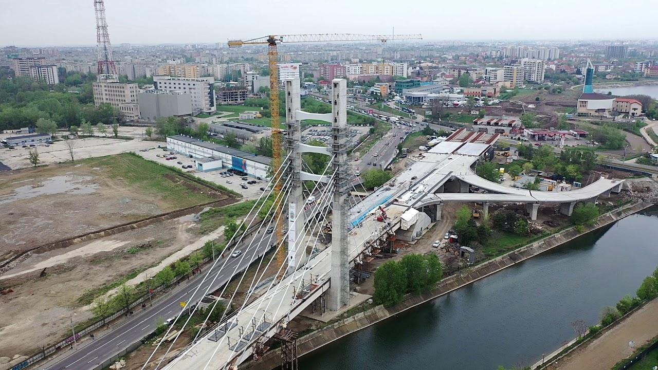 VIDEO Imagini din dronă cu podul hobanat de la Ciurel și ...  |Podul Ciurel