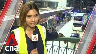 Hong Kong protests: Peaceful rally calling for international support deteriorates into chaos