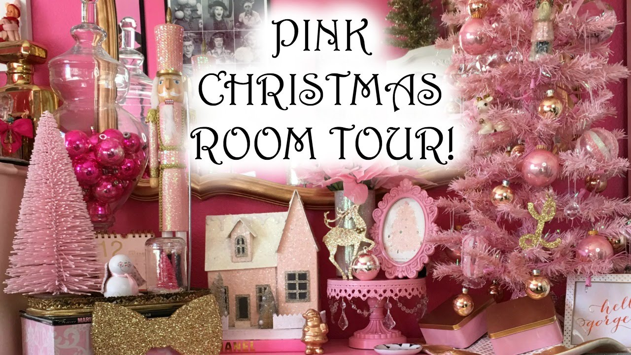 room tour christmas edition 2015 pink christmas decorations youtube