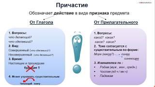 Причастие и его грамматические  признаки. 7 класс
