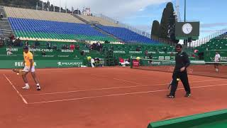Rafa Nadal's First Practice Session In Monte-Carlo