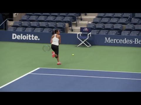 LIVE US Open Tennis 2017: Shuai Zhang Practice