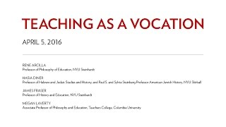 Teaching as a Vocation