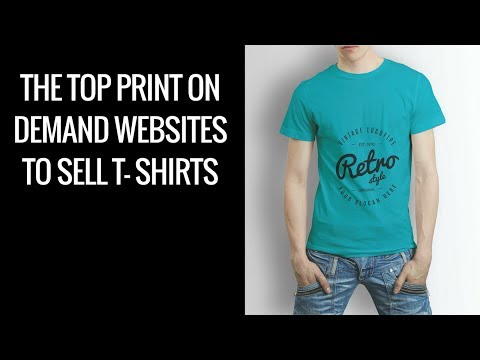 4d422adcd The Top Print On Demand Websites To Sell T- Shirts And Other Merchandise -  YouTube