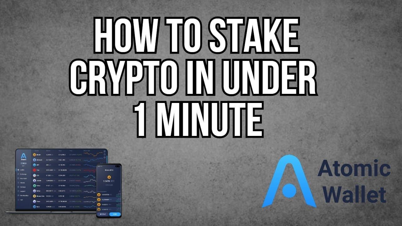 HOW TO EARN PASSIVE INCOME IN UNDER 1 MINUTE WITH ATOMIC WALLET USING PROOF OF STAKING COINS