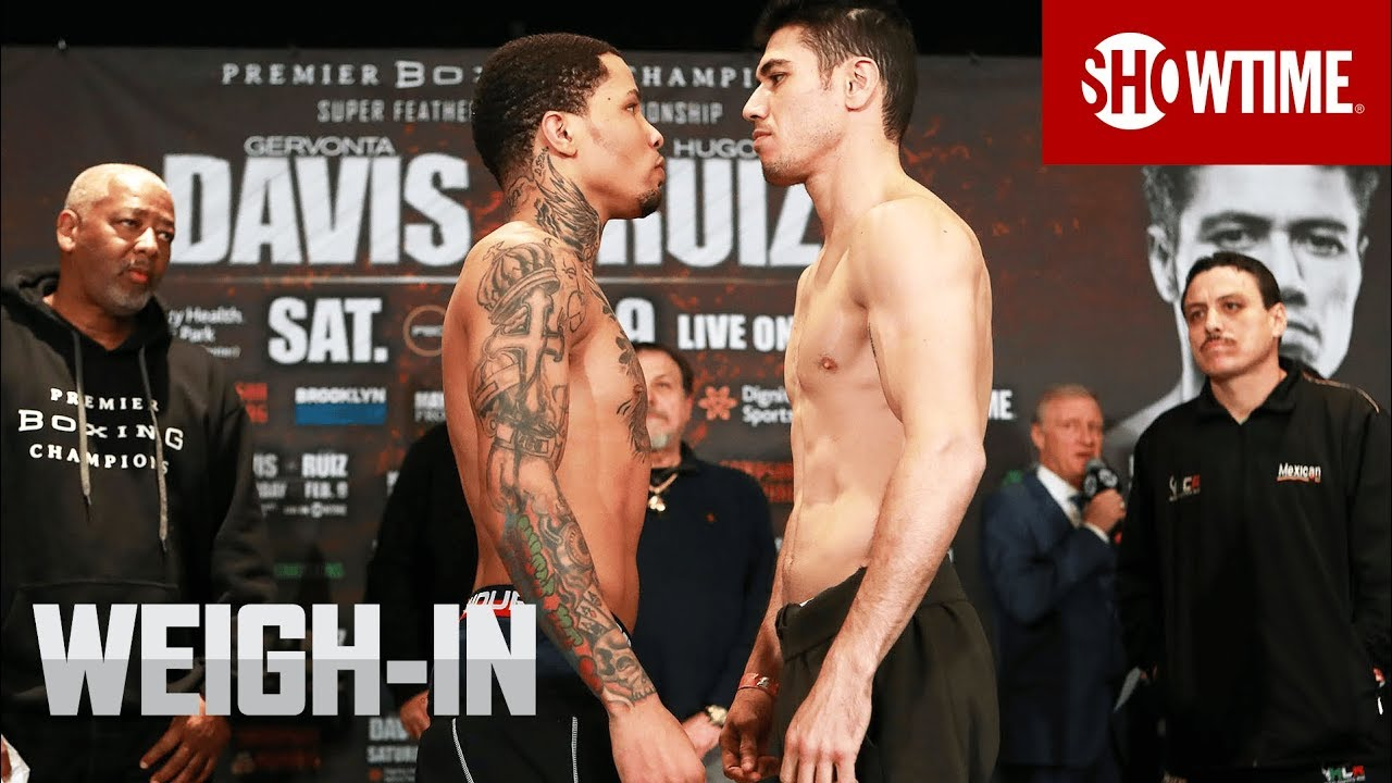 Davis vs. Ruiz: Weigh-In | SHOWTIME CHAMPIONSHIP BOXING