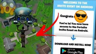 🔴-FINALLY!! LEFT FORTNITE MOBILE OFFICIAL FOR ANDROID AND I RECEIVED THE INVITATION TO DOWNLOAD! 😰