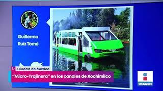 ¡Súbale! Lo Que Sabemos De La Micro-trajinera Que Pasea Por Canales De Xochimilco   Yuriria Sierra
