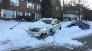 Subaru Outback in Snow