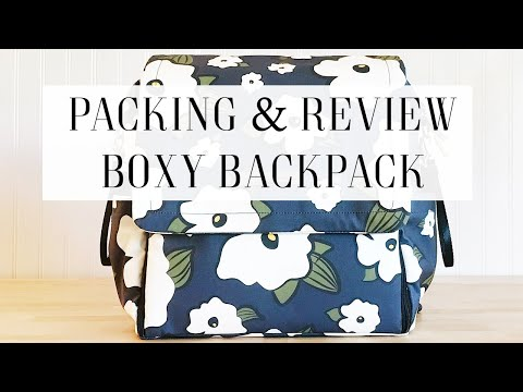 Packing The Petunia Pickle Bottom Boxy Backpack For Two!