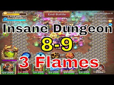 Castle Clash Insane Dungeon 8-9 3 Flames