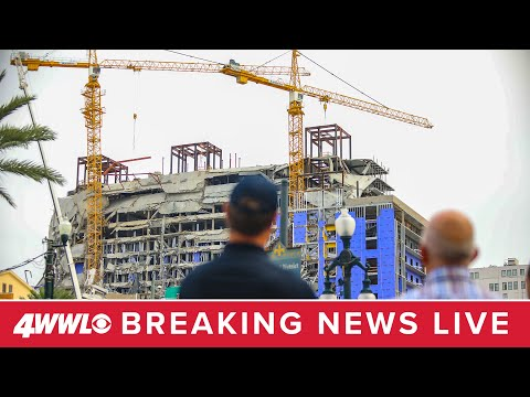 Crane Implosion At Hard Rock Hotel Collapse In New Orleans