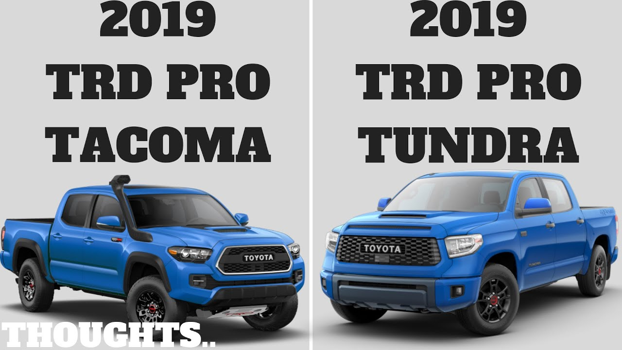 2019 TOYOTA TACOMA TRD PRO | 2019 TOYOTA TUNDRA TRD PRO ONLINE!