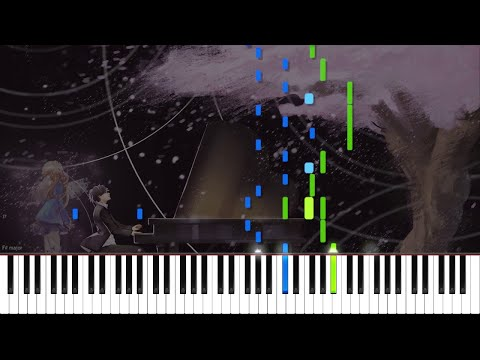 Your Lie in April // Again | LyricWulf Piano Tutorial on Synthesia