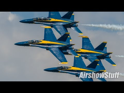 Blue Angels Perform in Oshkosh! - EAA AirVenture Oshkosh 2017
