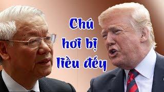 Mỹ tuyên bố sẽ san phẳng khu Ba Đình nếu Nguyễn Phú Trọng không chịu thả đàn em của Donald Trump