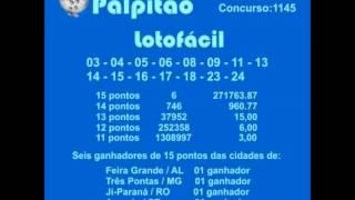 LOTOFACIL CONCURSO 1145  15122014