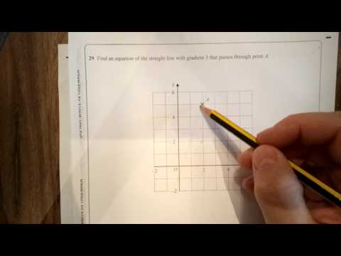 Q29 Equations of a Straight Line Foundation Higher Calculator ...