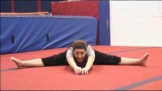 Gymnastics Stretches and Warm Ups : How to do a Pancake Gymnastics Stretch
