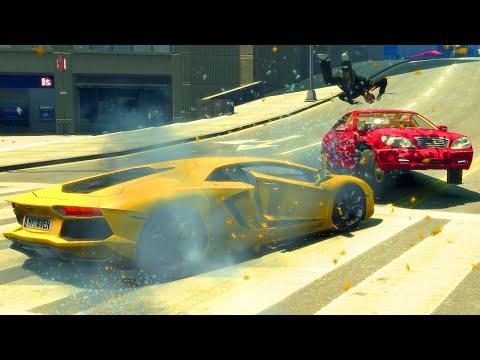 Lamborghini Super Car Fail/Crashes Compilation - GTA 4