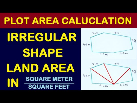 Plot Area Measurement in Sqft and Sq meter | Irregular Shape land Area | By Learning Technology
