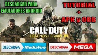 TUTORIAL + APK y Datos OBB del CALL OF DUTY LEGENDS OF WAR para PC