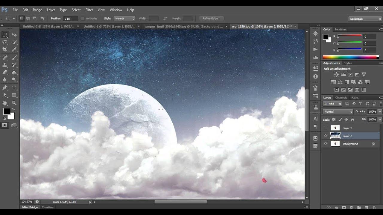 Photoshop práce s vrstvami