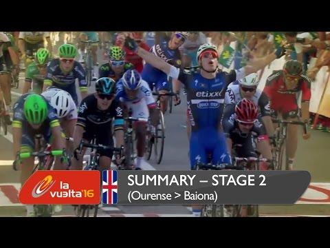 Summary - Stage 2 (Ourense capital termal / Baiona) - La Vuelta a España 2016