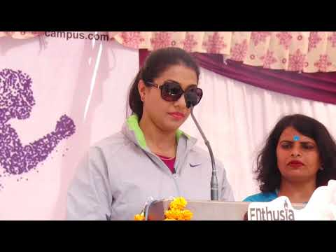 Welcome Anju Bobby George in Sports Day Enthusia 2018 @ Seth M R Jaipuria School Bansal Campus