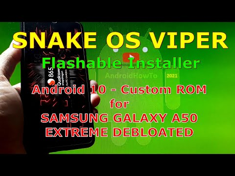 Snake OS Viper for Samsung Galaxy A50 Gaming ROM - Flashable Installer