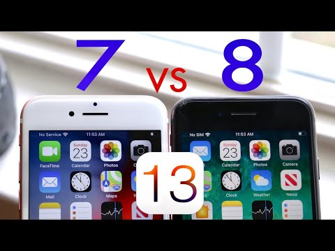 iPhone 7 Vs iPhone 8 On iOS 13! (Speed Comparison) (BETA)