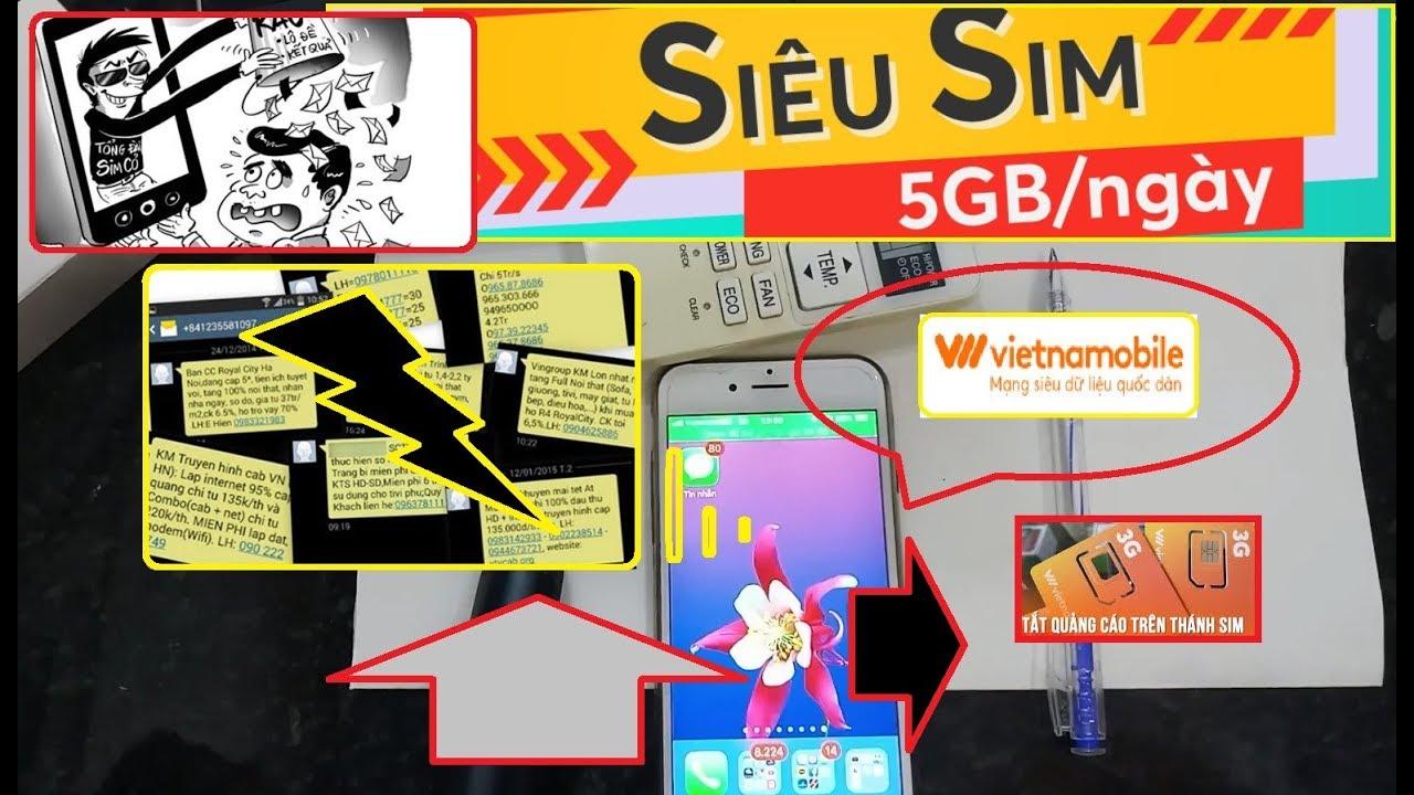 Hướng dẫn chặn tin nhắn rác VietnamMobile 100% 2019
