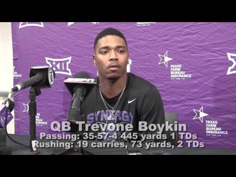 TCU QB Trevone Boykin Talks Lost Opportunities After Loss To Oklahoma State
