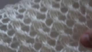 Вязание спицами: красивый ажурный узор для палантина