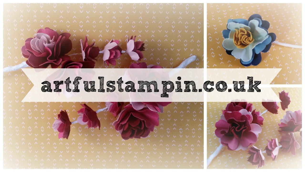 Making paper flower corsage lovely for wedding with ruth trice uk making paper flower corsage lovely for wedding with ruth trice uk stampin up demonstrator mightylinksfo Choice Image