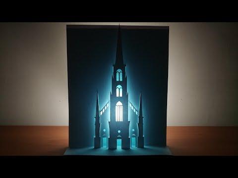3d church | Pop up church card | paper art | kirigami | 3d教堂#2