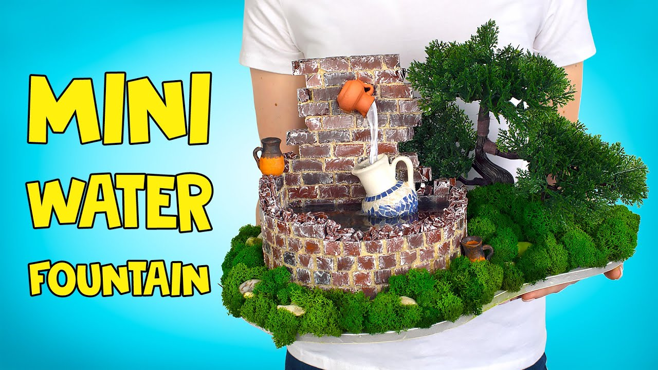 ?How to Make Mini Water Fountain From Mini Bricks ⛲️