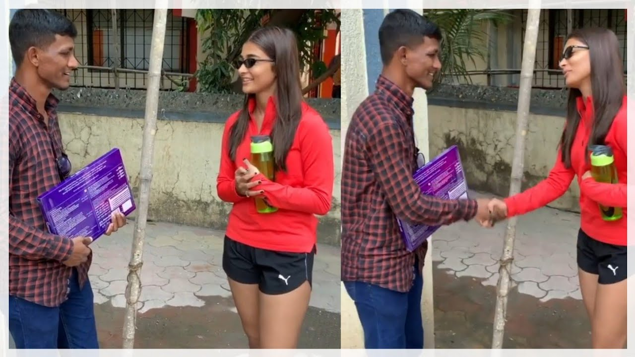 Puja Hegde Meets Crazy Fan Who Waited For Five Days On Foot Path