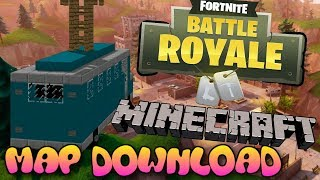 Minecraft Xbox One/Bedrock Edition - Fortnite Map W/Download (mcpe fortnite map download)