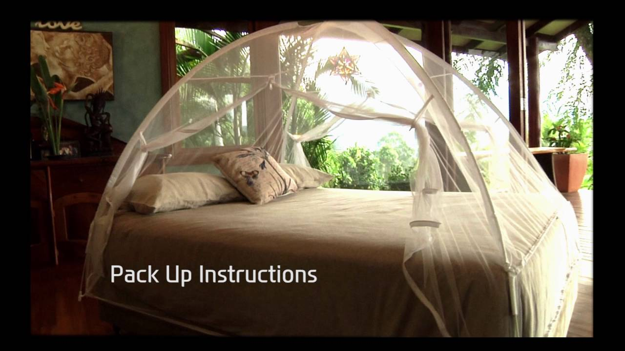 Popup Mosquito Net Folding Instructions & Popup Mosquito Net Folding Instructions - YouTube