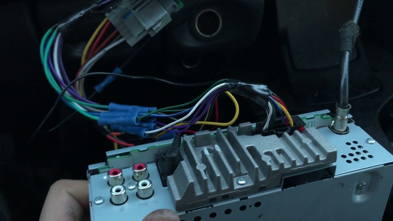 maxresdefault how to install radio in 99 dodge ram without harness!! youtube wiring car stereo without harness at creativeand.co