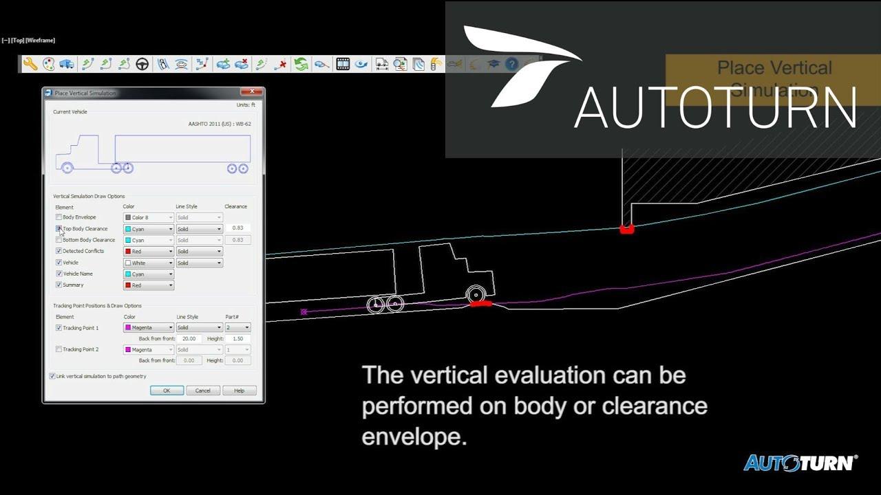 AutoTURN 9 0 -- Place Vertical Simulations