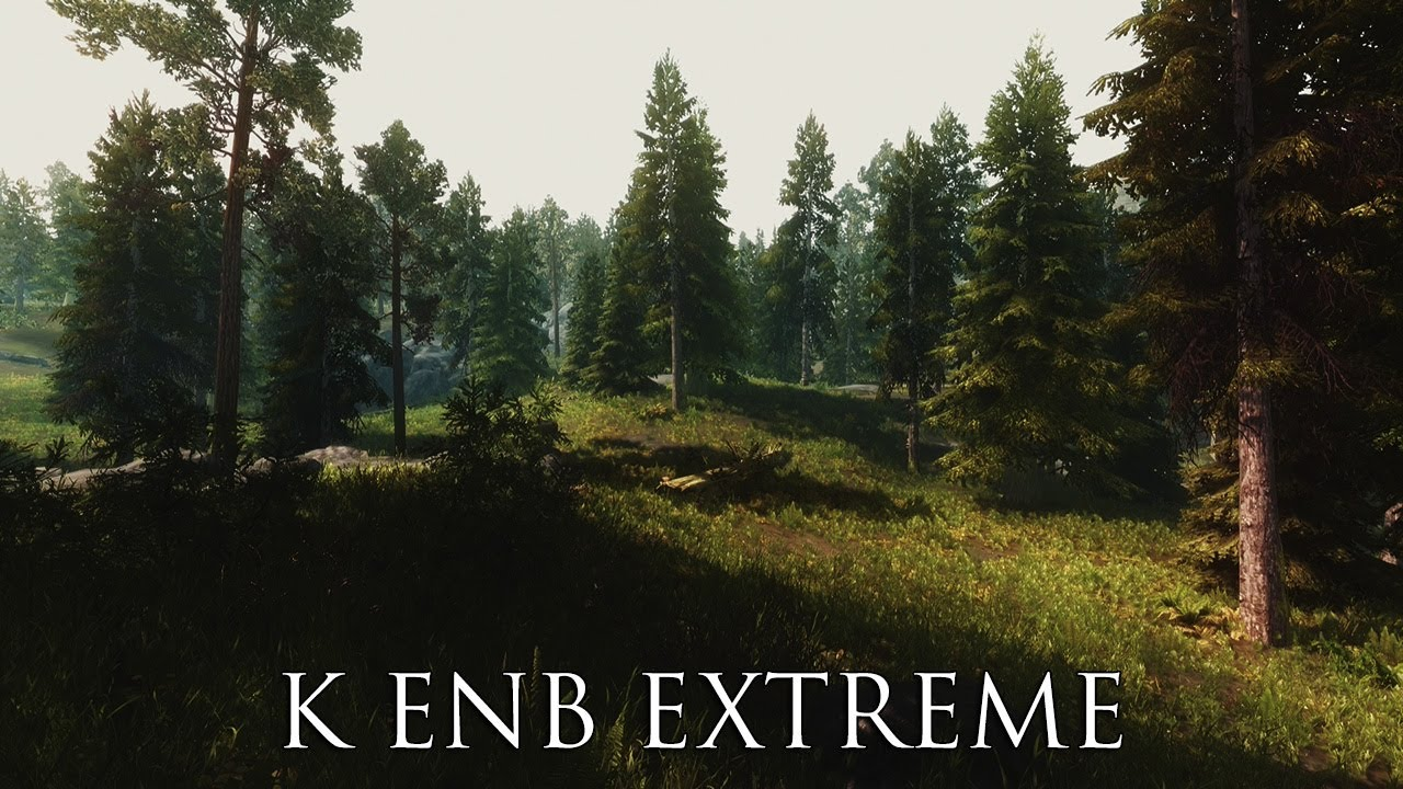 tes v skyrim mods k enb extreme pure light youtube