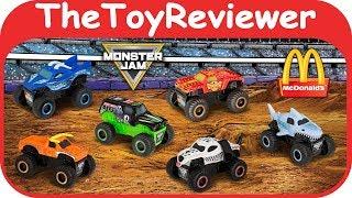 Щасливий 2019 монстр Джем Макдональдс повноцінний обід Toys набір 6 розпакування огляд іграшки TheToyReviewer