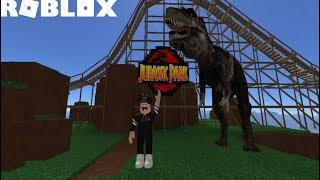 MONTANHA RUSSA DO JURASSIC PARK! - (Universal Studios Roblox) [Gameplay]