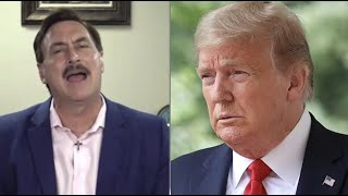 President trump was asked about my pillow's mike lindell before he makes remarks to a crowd of supporters in arizona.