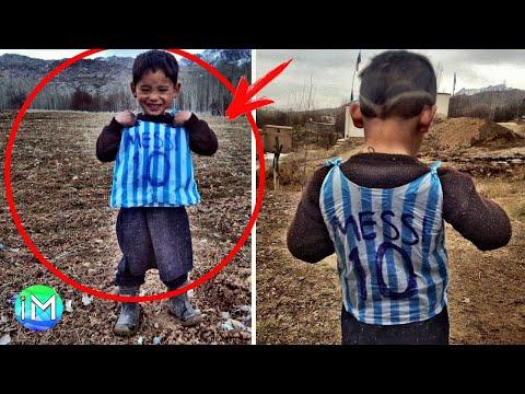 Indossava un sacco della spazzatura per giocare, ma poi Messi lo ha visto e la sua vita è cambiata..