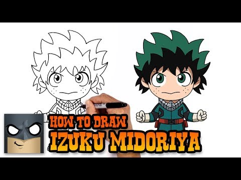 How to Draw Izuku Midoriya | My Hero Academia