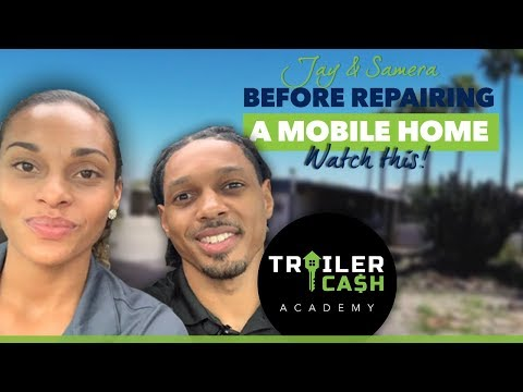Before Repairing A Mobile Home Watch This (For Investors) | Flipping Homes Inside Mobile Home Parks
